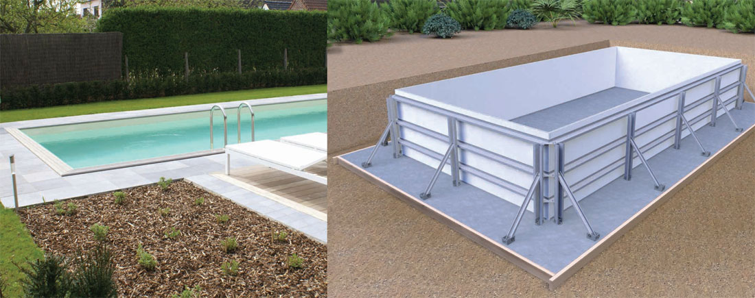 Modular swimming pools canadian spa ireland for Modular pool house